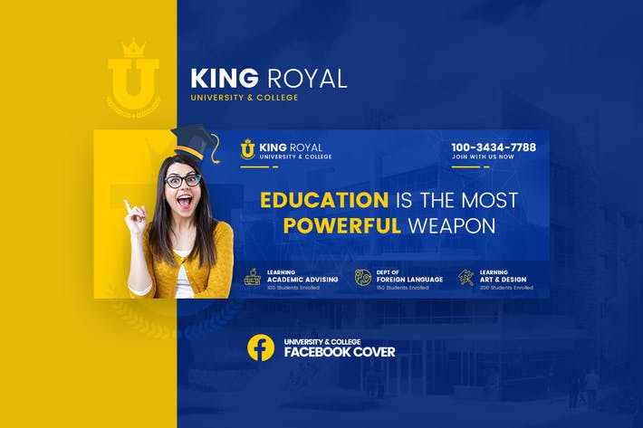 Thumbnail for KingRoyal - University Facebook Cover Template