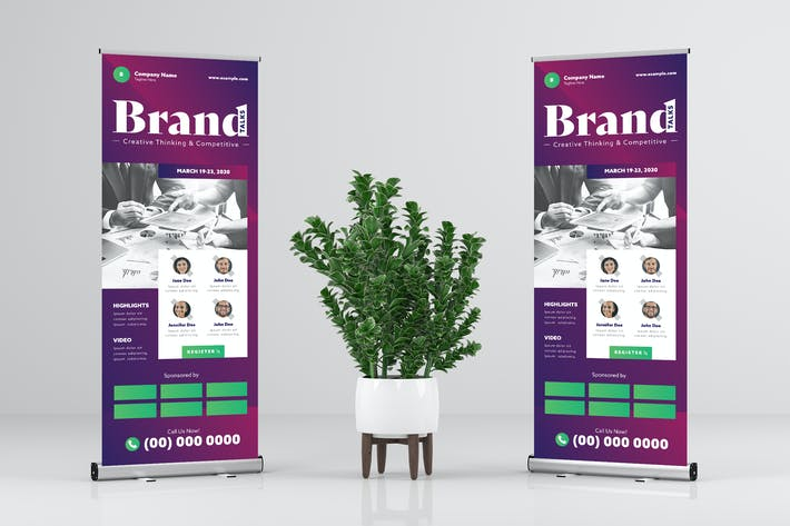 Thumbnail for Modern Pro - Rollup Banner Design