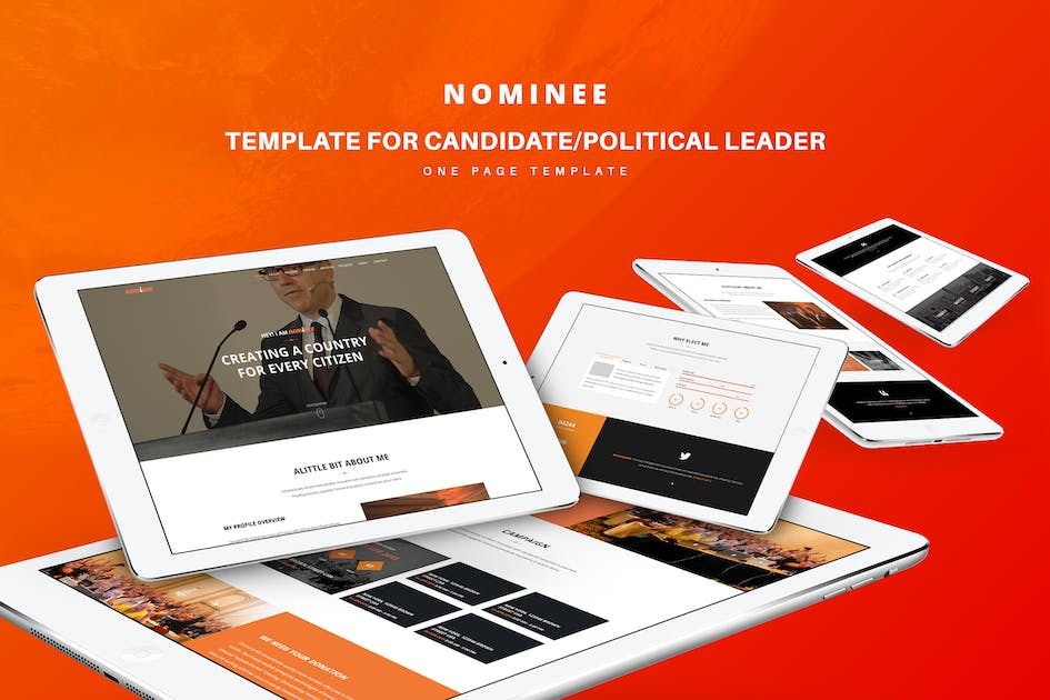 Download Nominee - Template for Candidate/Political Leader by TrendyTheme