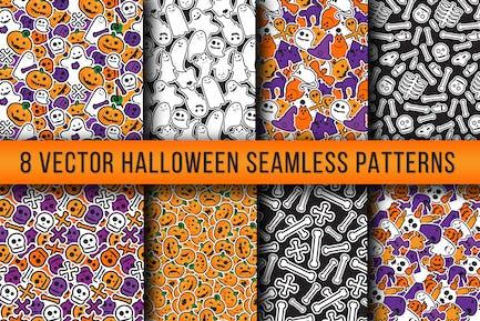 Stilvolle Halloween Nahtlose Muster