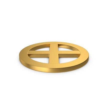 Gold Symbol X Mark