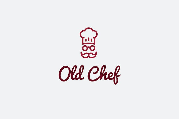 Cover Image For Old Chef Logo