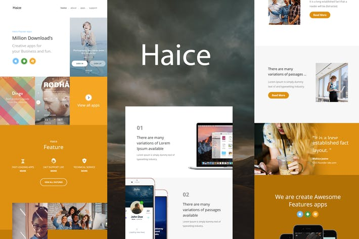 Thumbnail for Haice Mail - Responsive E-mail Template