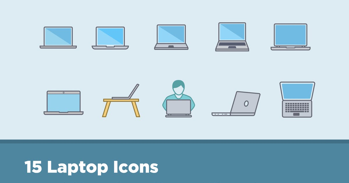 Download 15 Laptop Icons by creativevip