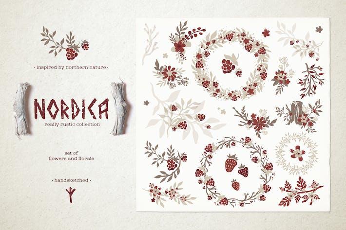 Nordica // Blumen und Blumen Set #1