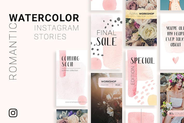 Thumbnail for Romantic Instagram Stories Template