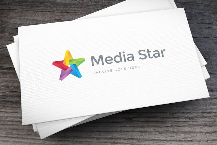 Thumbnail for Media Star Logo Template