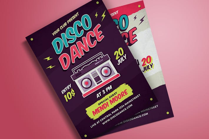 Thumbnail for Disco Dance Poster dépliant