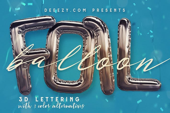 Thumbnail for Foil Balloon - 3D Lettering