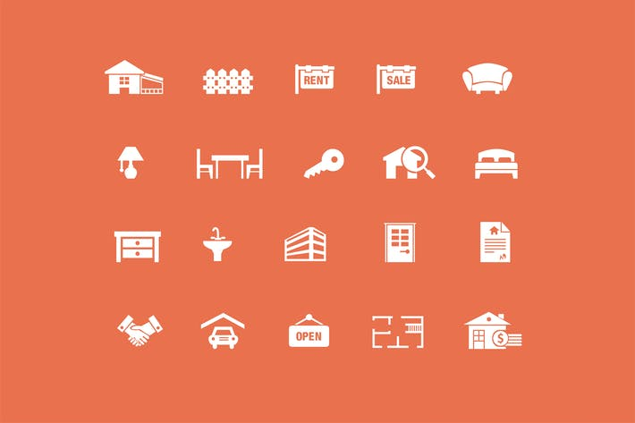 Thumbnail for 20 Real Estate Icons