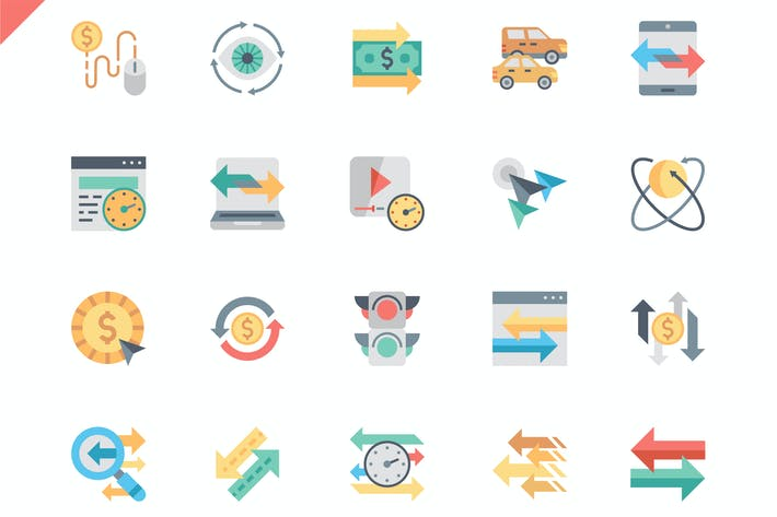 Thumbnail for Simple Set Traffic Flat Icons