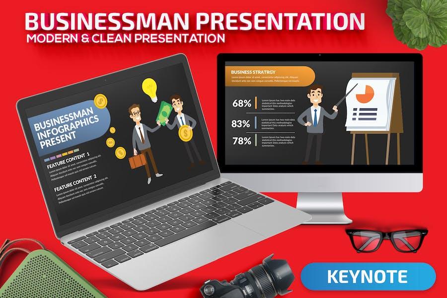 Businessman Keynote Presentation
