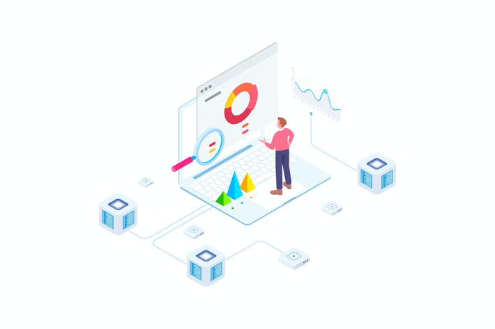 Thumbnail for Financial Report on Blockchain Isometric 4 - FV