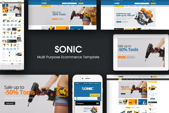 Thumbnail for Sonic - Responsive Prestashop Theme