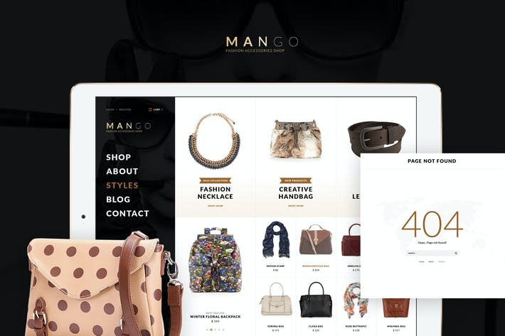 Thumbnail for Mango Ecommerce PSD Templates