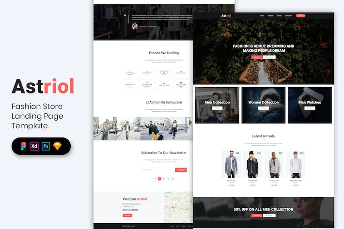 Thumbnail for Fashion Store - Landing Page Template