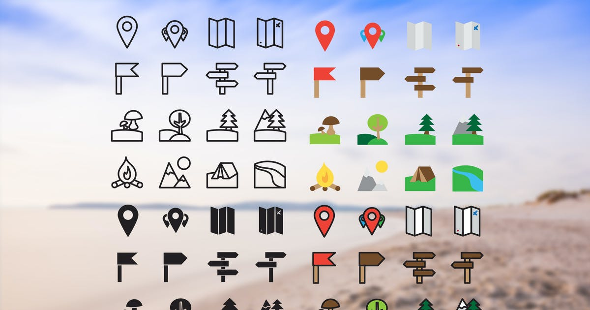Download Camping Icons Set by Unknow