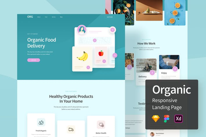 Thumbnail for Organic Responsive Landing Page