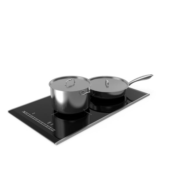 Induction Hob with Stainless Tableware
