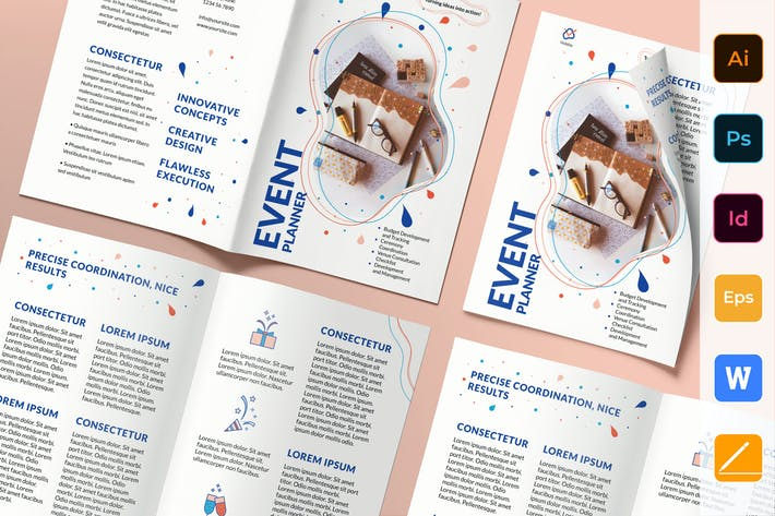 Thumbnail for Event Planner Brochure Bifold