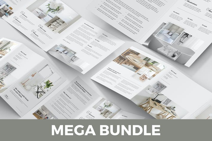 Thumbnail for Architectural Studio – Brochures Bundle 5 in 1