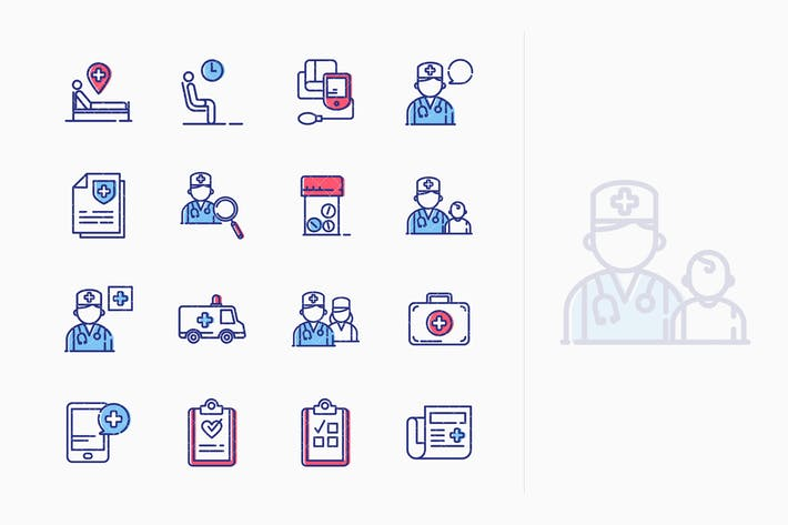 Thumbnail for Medical & Health Care Icons Set 2 - Outline Series