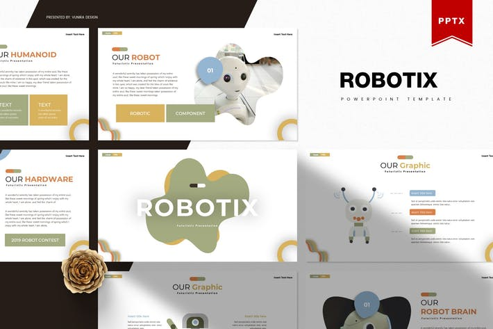 Thumbnail for Robotix | Powerpoint Template