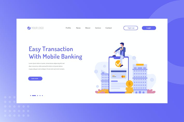 Thumbnail for Easy transactions with mobile banking Landing Page