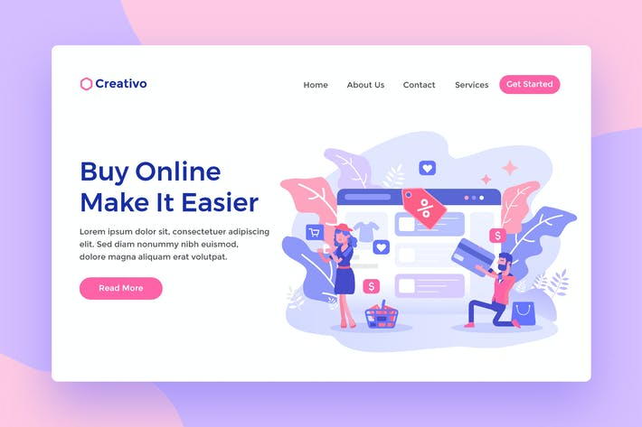 Cover Image For Fashion Online Shopping Web Landing Page