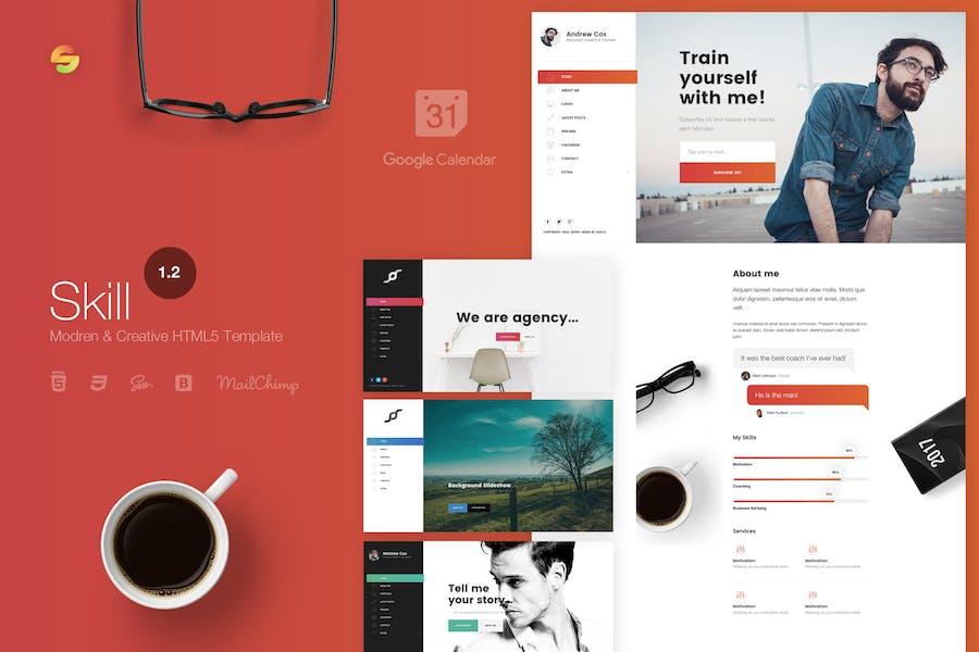 Skill - Moderne und kreative HTML5-Vorlage