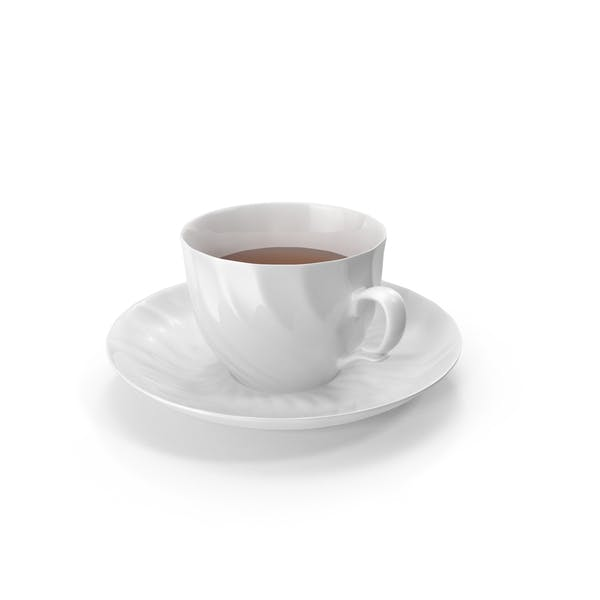 Thumbnail for White Tea Cup and Saucer