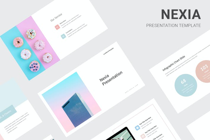 Thumbnail for Nexia - Pastel Color Powerpoint