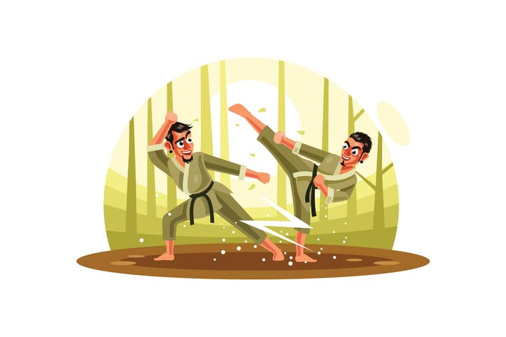 Thumbnail for Karate Fighter Vector Illustration
