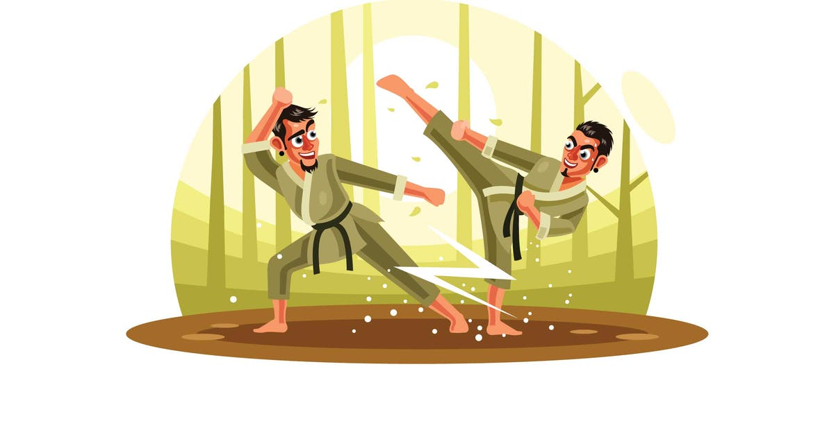 Download Karate Fighter Vector Illustration by IanMikraz