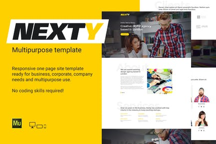 Nexty - Многоцелевое портфолио/Шаблон Агентство