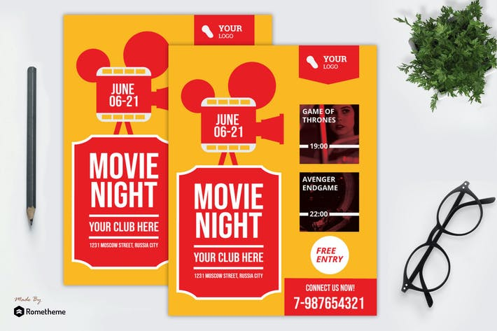 Thumbnail for Movie Night Flyer vol. 01 MR