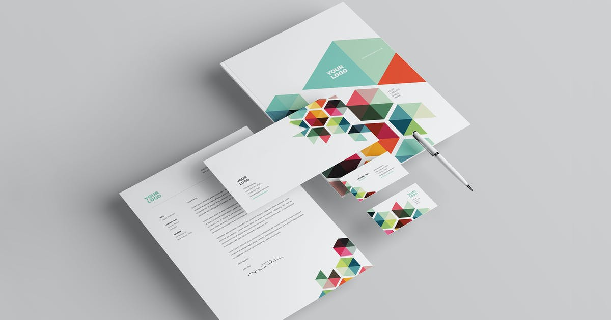Business Colorful Stationery by AbraDesign
