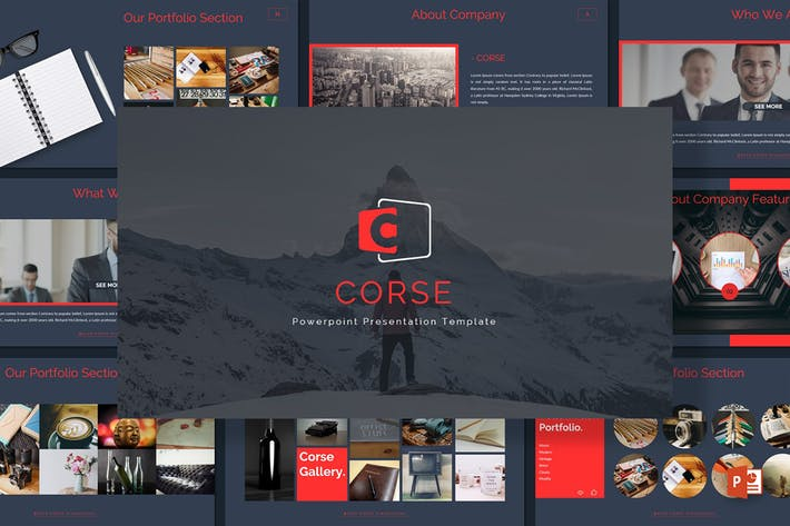 Thumbnail for Corse - Powerpoint Template