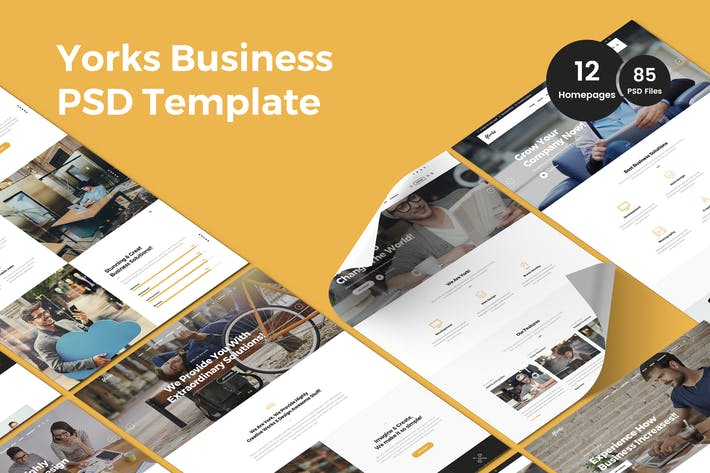 Thumbnail for Yorks - Business Multi-Purpose PSD Template
