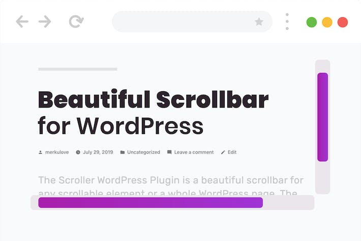 Cover Image For Beautiful Scrollbar for WordPress