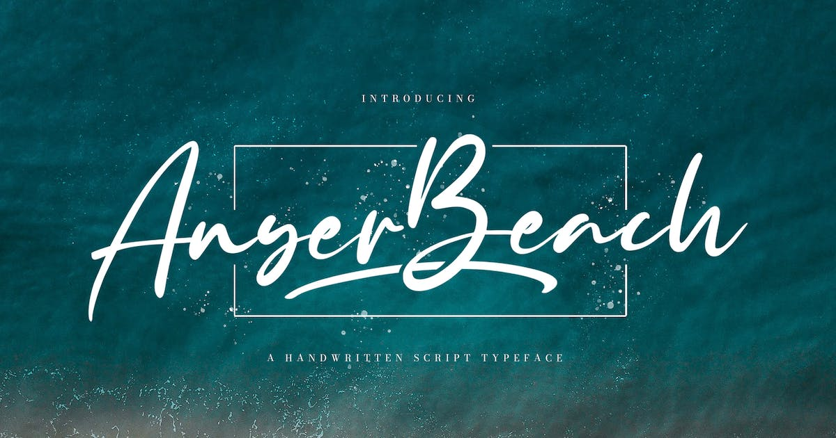Download Anyer Beach - Handwritten Font by StringLabs