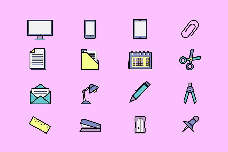 Office Bright Icons
