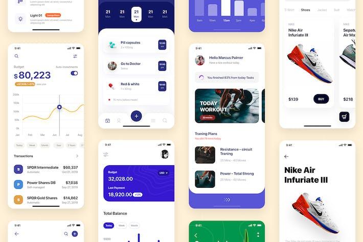 Thumbnail for PLATIN - Multipurpose Card-based_ADOBE XD