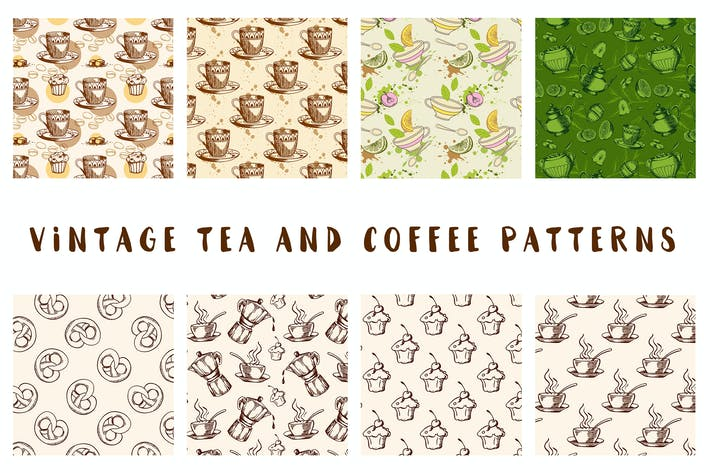 Thumbnail for Vintage Tea and Coffee Patterns