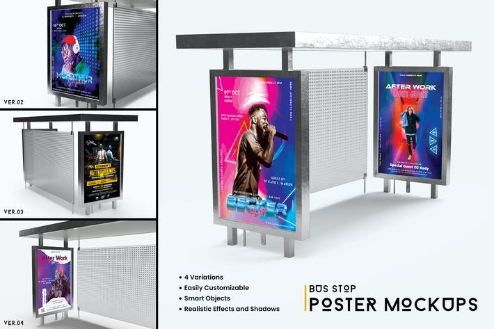 Thumbnail for Bus Stop Poster Mockup