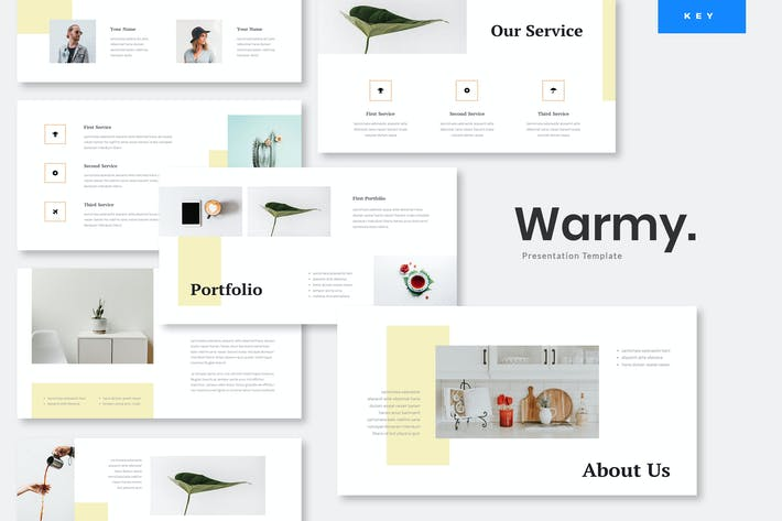 Thumbnail for Warmy - Minimalist Keynote Presentation Template