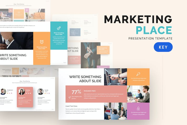 Thumbnail for Market Place - Keynote Template