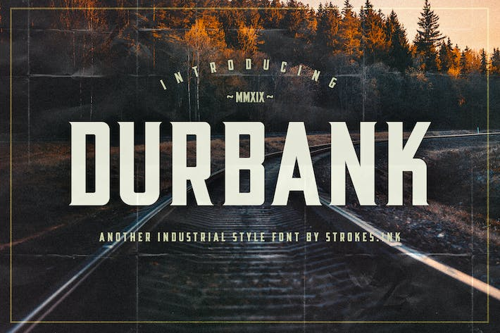 Thumbnail for Durbank Font