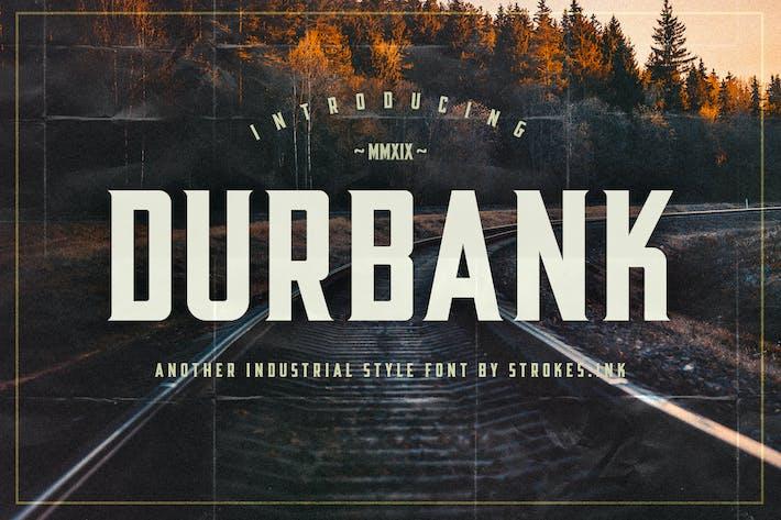 Thumbnail for Durbank Font