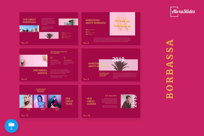 Thumbnail for Borbarossa - Fashion Keynote Presentation Template